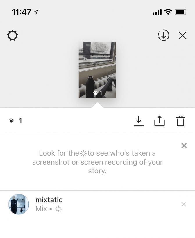 Instagram предупреждает о любителях скриншотов
